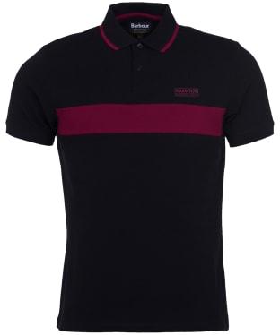 Men's Barbour International Block Stripe Polo Shirt - Black