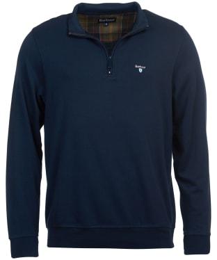 Men's Barbour Batten Half Zip Sweater - Navy
