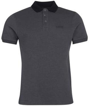 Men's Barbour International Contrast Polo Shirt - Black Gargoyle