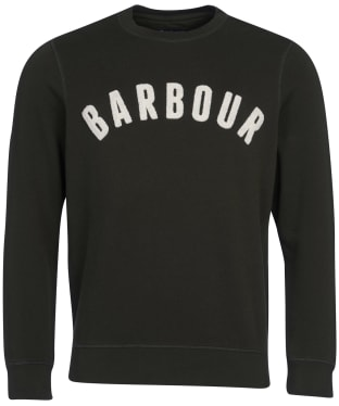 Men's Barbour Prep Logo Crew Sweater - Forest