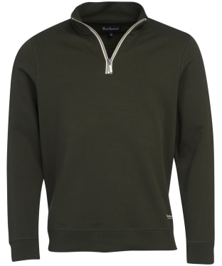 Men's Barbour Lockley Half Zip Sweater - Forest