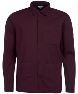 Men's Barbour International Patch Overshirt - Dark Burgundy