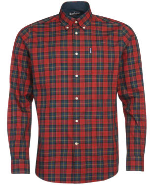 Men's Barbour Tartan 8 Tailored Shirt - Crimson Check