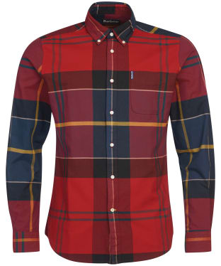 Men's Barbour Tartan 10 Tailored Shirt - Crimson