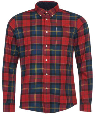 Men's Barbour Tartan 9 Tailored Shirt - Crimson Check