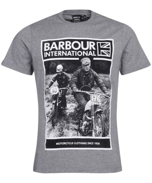 Men's Barbour International Racer Tee - Anthracite Marl