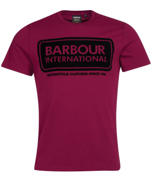 Men's Barbour International Frame Tee - Berry