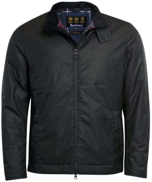 Men's Barbour Barnby Waxed Jacket - Black