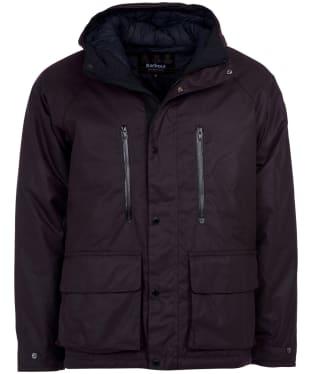 Men's Barbour International Afton Wax Jacket - Dark Aubergine