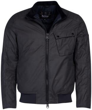 Men's Barbour International Seton Wax Jacket - Charcoal