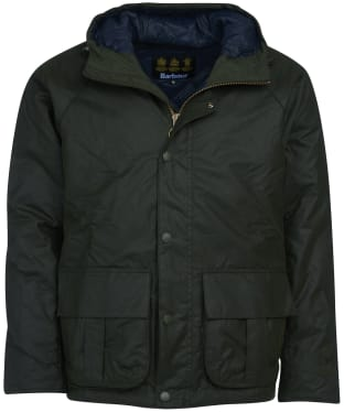 Men's Barbour Horrow Waxed Jacket - Forest