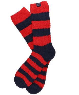 Men's Joules Fluffy Socks - Red