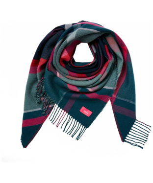 Women's Joules Wilstow Scarf - Navy / Teal / Pink Check