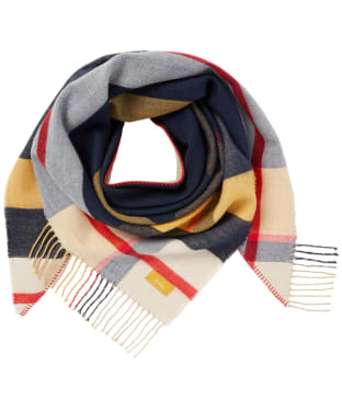 Women's Joules Wilstow Scarf - Navy / Gold Check