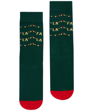 Women's Joules Christmas Single Socks - Navy Fa La La