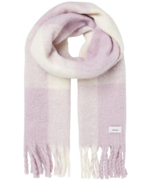 Women's Joules Lin Scarf - Purple / Cream Check