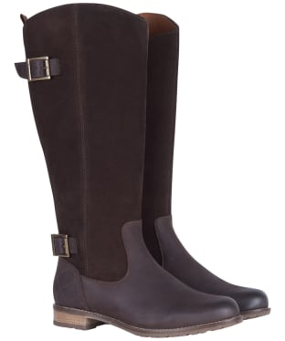 Women's Barbour Elizabeth Boots - Choco Leather / Suede