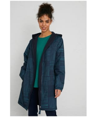 Women's Seasalt Turning Tide Waterproof Coat - Linear Check Midnight