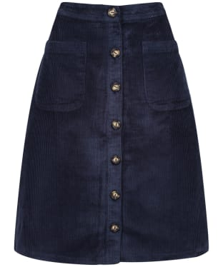 Women's Lily & Me Button Through Skirt - Navy