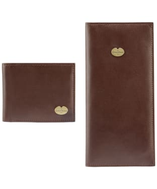 Men's Le Chameau Bifold Wallet & License Wallet Gift Set - Marron Fonce