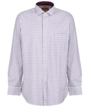 Men's Schoffel Milton Tailored Shirt - Purple Check