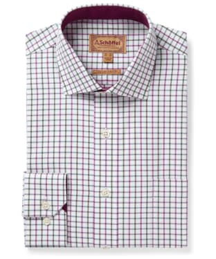 Men's Schoffel Milton Tailored Shirt - Pink / Olive Check