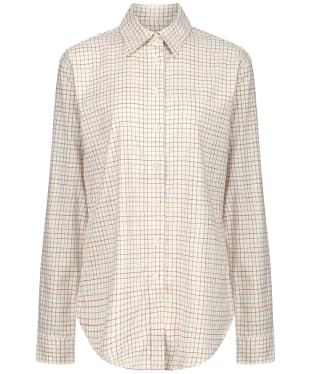 Women's Schoffel Ashley Tattersall Shirt - Grey / Chilli / Mol