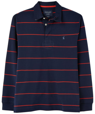 Men's Joules Onside Rugby Shirt - Navy / Red Stripe