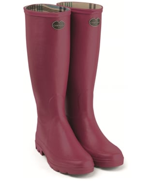 Women's Le Chameau Iris Jersey Lined Boots - Rose