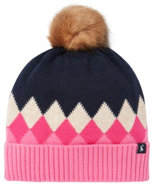 Women's Joules Rothley Hat - Navy / Pink Argyle