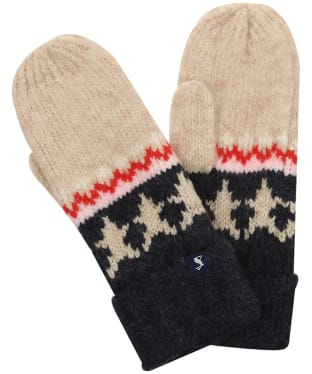 Women's Joules Wilbury Gloves - Oat Fairisle