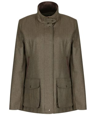 Women's Schoffel Lilymere Tweed Jacket - Loden Green Herringbone Tweed