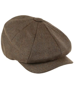 Women's Schöffel Newsboy Cap - Loden Green Herringbone Tweed