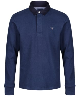 Men's GANT Original Heavy Rugby Shirt - Marine Melange