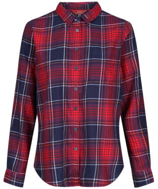 Women's Joules Lorena Check Shirt - Navy / Red Check