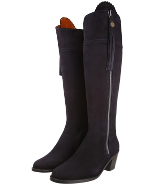 Women's Fairfax & Favor Regina Heeled Sporting Fit Boots - Navy Suede
