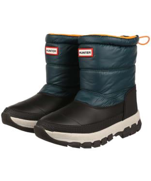 Women's Hunter Original Insulated Snow Short Ankle Boots - Green Jasper / Geysers Grey