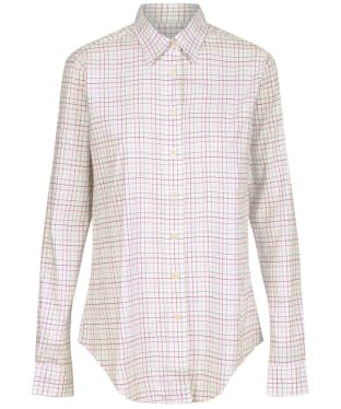 Women's Schoffel Ashley Tattersall Shirt - Dusty Pink / Chilli / Green