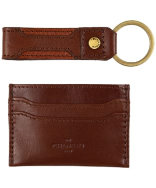 Men's Le Chameau Key Ring & Card Wallet Gift Set - Marron Fonce