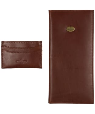 Men's Le Chameau License Wallet & Card Wallet Gift Set - Marron Fonce