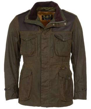 Men's Barbour Gold Standard Supa Corbridge Waxed Jacket - Olive