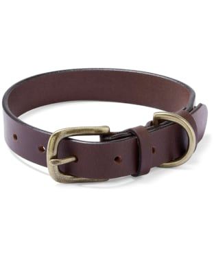 Le Chameau Leather Dog Collar - Marron Fonce