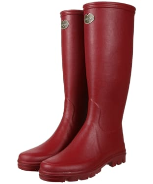 Women's Le Chameau Iris Jersey Lined Boots - Rouge