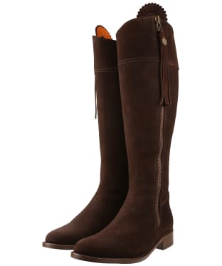 Women's Fairfax & Favor Sporting Fit Regina Boots - Chocolate Suede