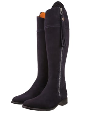 Women's Fairfax & Favor Sporting Fit Regina Boots - Navy Suede