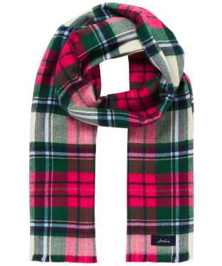 Women's Joules Bridey Scarf - Red / Green / White Check