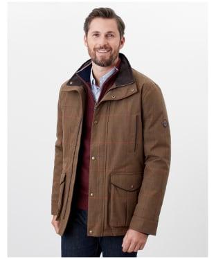 Men's Joules Fullerton Waterproof Tweed Jacket - Green Multi Tweed