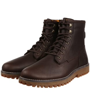 Men's Timberland Jackson's Landing Waterproof Boots - Dark Brown Full-Grain