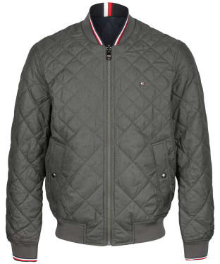Men's Tommy Hilfiger Reversible Quilted Bomber Jacket - Dark Ash