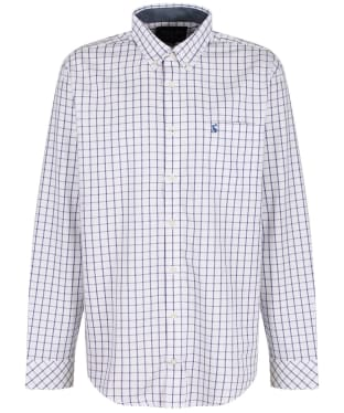 Men's Joules Welford Classic Shirt - White / Pink Check